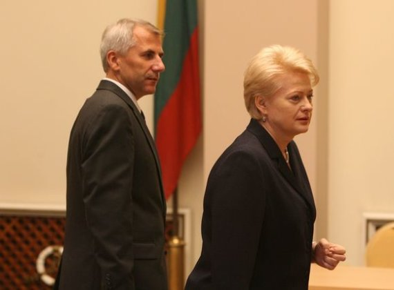 Irmanto Gelūno / 15min nuotr./Vygaudas Ušackas ir Dalia Grybauskaitė 2009 metais