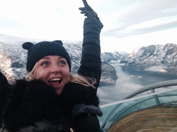 Asmeninio albumo nuotr./Eglės Straleckaitės akimirka iš atostogų Norvegijoje