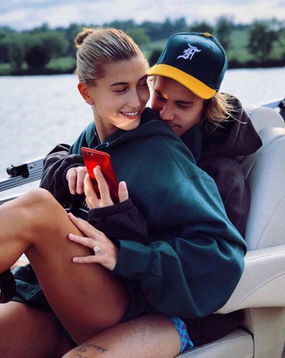 """Instagram"" nuotr./Hailey Baldwin ir Justinas Bieberis"