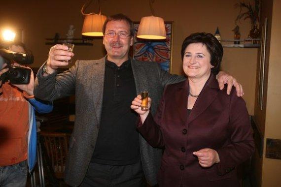 Irmanto Gelūno / 15min nuotr./Viktoras Uspaskichas ir Loreta Graužinienė