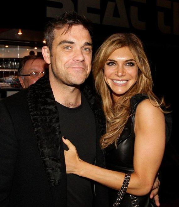 """Scanpix"" nuotr./Robbie Williamsas ir Ayda Field"