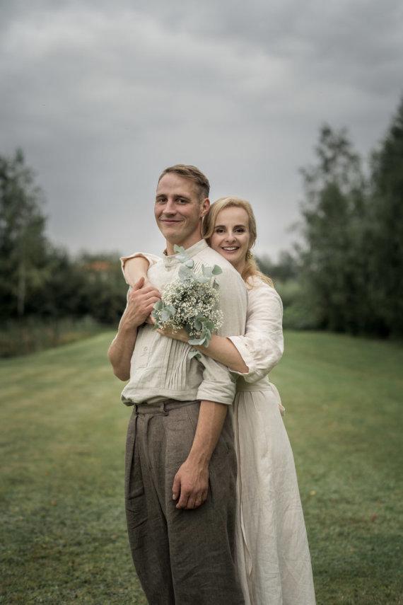 Justo Valinsko nuotr./Ievos Jackevičiūtės ir Raimondo Kleziaus vestuvių akimirka