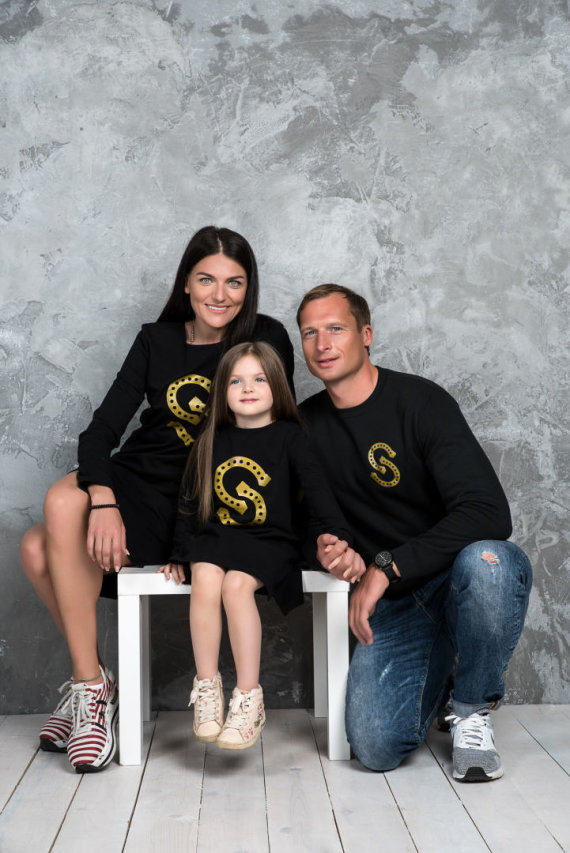 Dariaus Kučio nuotr./Diana Lobačevskė ir Mindaugas Griškonis su dukra