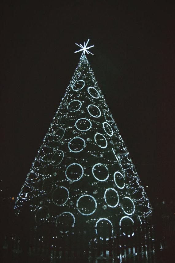 Asmeninio albumo nuotr./Kalėdiniai eglutė Raseiniuose