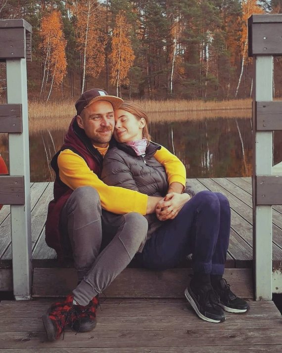 Asmeninio albumo nuotr./Simonas Urbonas ir Ieva Kačinskaitė-Urbonienė