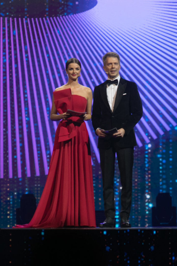"""Juliaus Kalinsko / 15min nuotr./""""Eurovizijos finalo"""" finalo akimirka"""