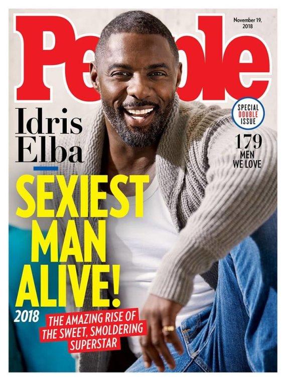 """""""People"""" viršelis/ Idrisas Elba"""