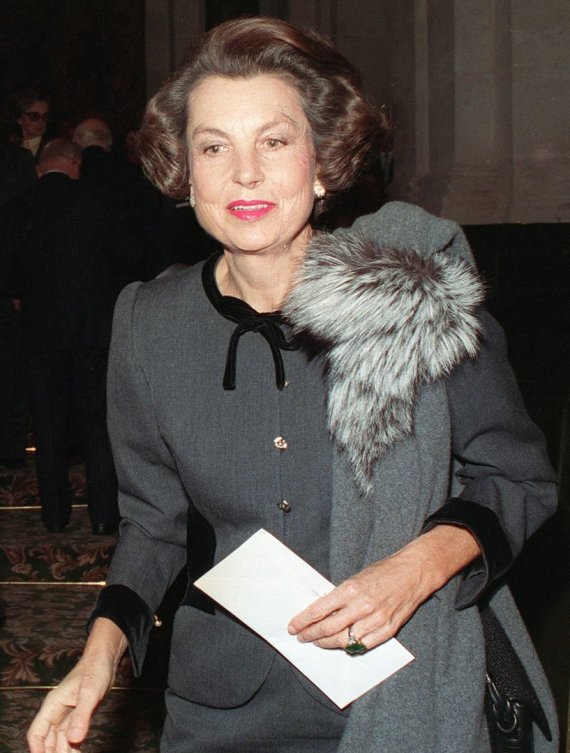 """AFP/""""Scanpix"""" nuotr./Liliane Bettencourt (1988 m.)"""