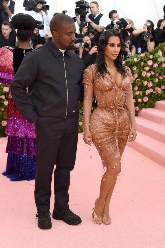 """""""Scanpix"""" nuotr./Kanye Westas ir Kim Kardashian"""