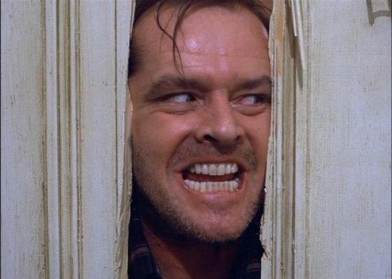 """Kadras iš filmo/Jackas Nicholsonas filme """"Švytėjimas"""""""