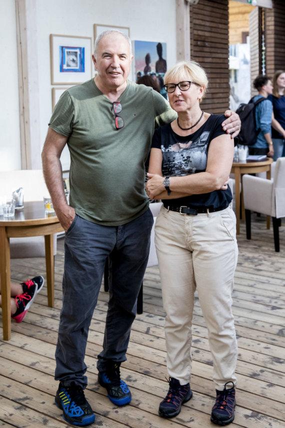 Luko Balandžio / 15min nuotr./Viktoras Butkus su žmona Danguole