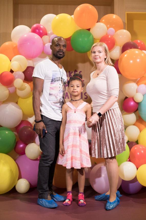 Organizatorių nuotr. /Jeanas Claude'as Edorhas su šeima