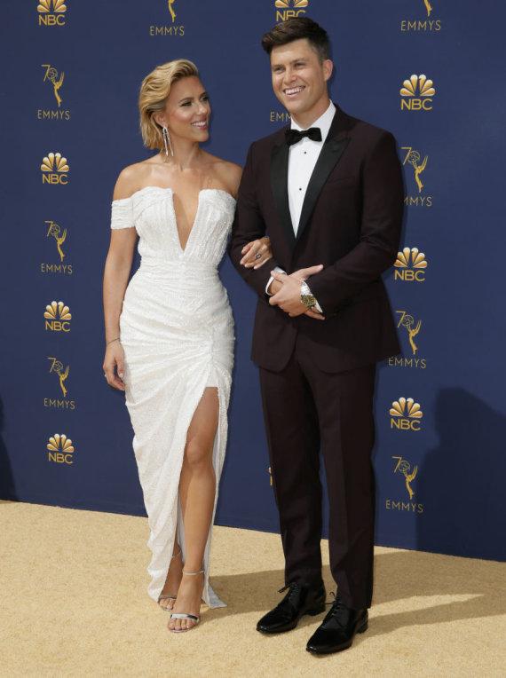 """Scanpix""/AP nuotr./Scarlett Johansson ir Colinas Jostas"