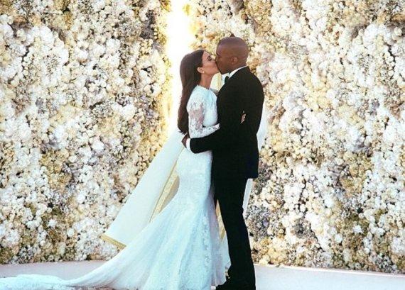 """Instagram"" nuotr./Kim Kardashian ir Kanye Westas"