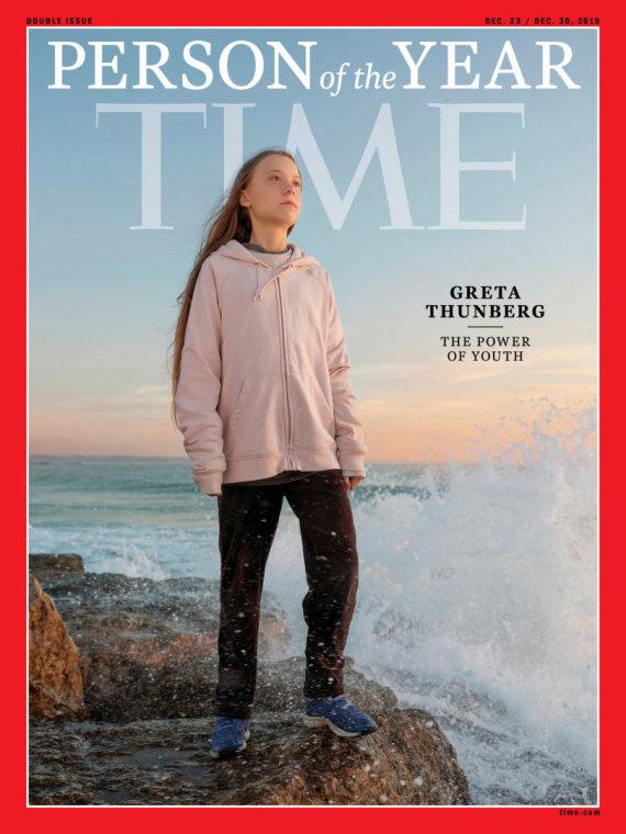 """Reuters""/""Scanpix"" nuotr./Greta Thunberg ant ""Time"" viršelio"