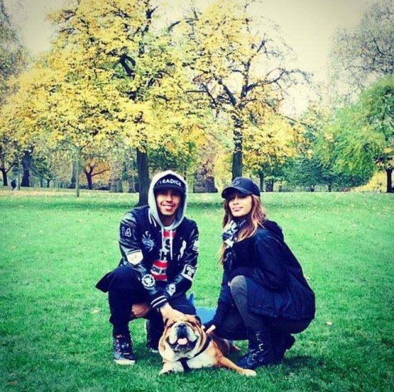 """Instagram"" nuotr./Nicole Scherzinger ir Lewisas Hamiltonas"