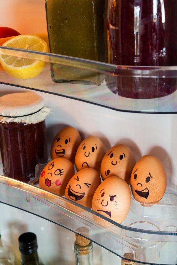 Vida Press nuotr./Kiaušiniai šaldytuve