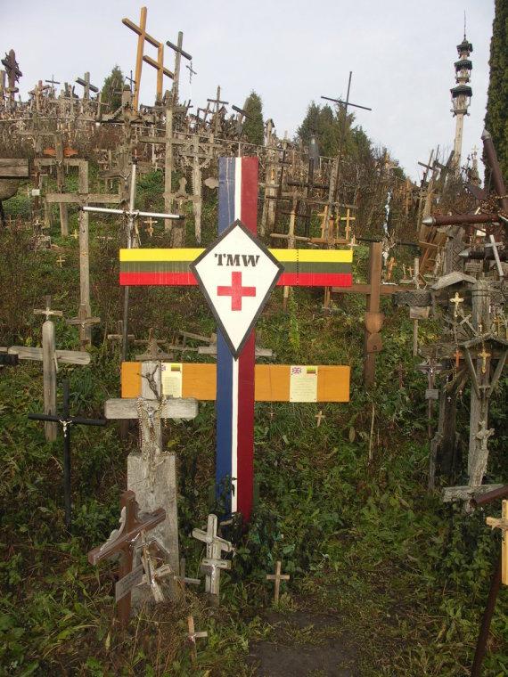 Šiaulių rajono turizmo ir verslo informacijos centro nuotr./NATO karių kryžius