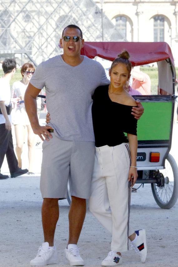 Vida Press nuotr./Jennifer Lopez ir Alexas Rodriguezas