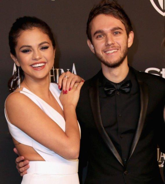 """AFP/""""Scanpix"""" nuotr./Selena Gomez ir Zeddas"""
