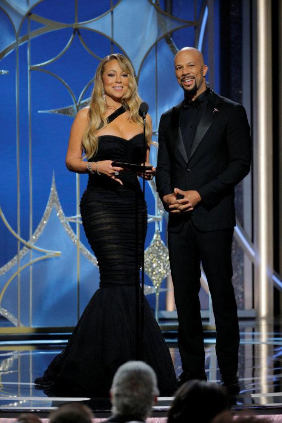 """Reuters""/""Scanpix"" nuotr./Mariah Carey ir Common"