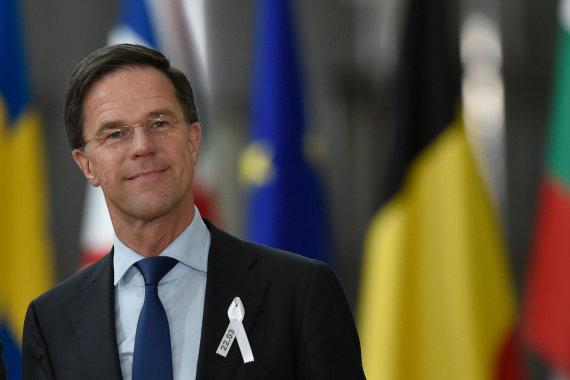 "AFP/""Scanpix"" nuotr./Markas Rutte"