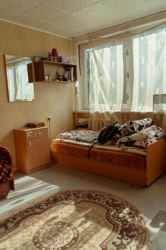 Pranešimo autorių nuotr./Bendrabučio kambarys prieš pertvarką