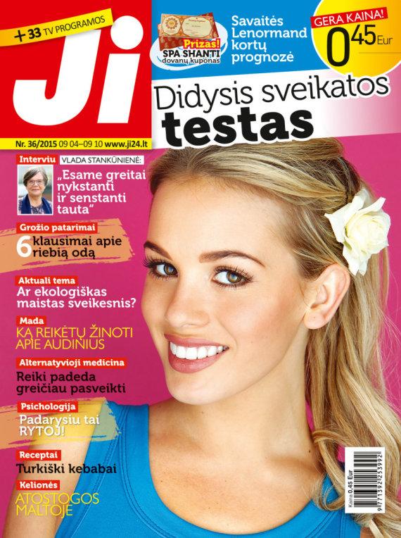 """Redakcijos archyvo nuotr./Žurnalo """"Ji"""" viršelis (36 nr.)"""