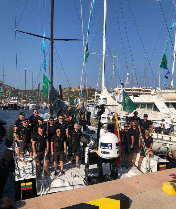 """""""Ambersail2"""" nuotr./""""Ambersail2"""" įgula """"Maxi Yacht Rolex Cup"""" regatoje"""