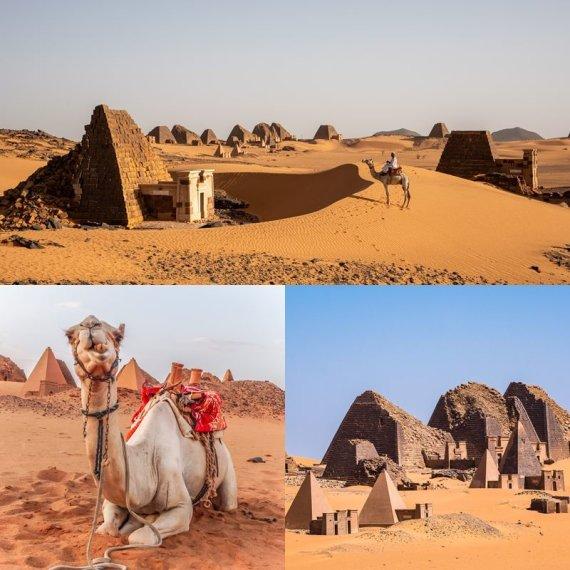 """""""Shutterstock"""" nuotr./Kušo imperijos pietinės sostinės Merojės liekanos ir griuvėsiai, Sudanas, Afrika"""
