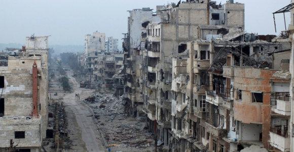 Izraelis smogė Sirijos aviacijos bazei Homso provincijoje