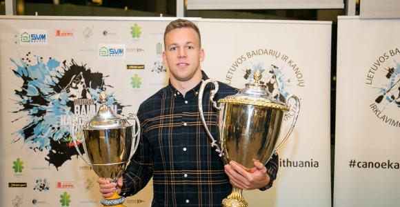 Geriausiu Lietuvos baidarių ir kanojų irkluotoju išrinktas Arturas Seja