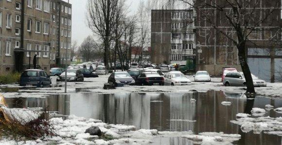 Klaipėdos gyventojai perspėjami dėl kylančio Danės vandens