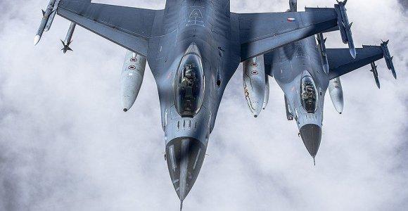 Prancūzijoje sudužo belgų naikintuvas, jo pilotas nukrito ant elektros laidų