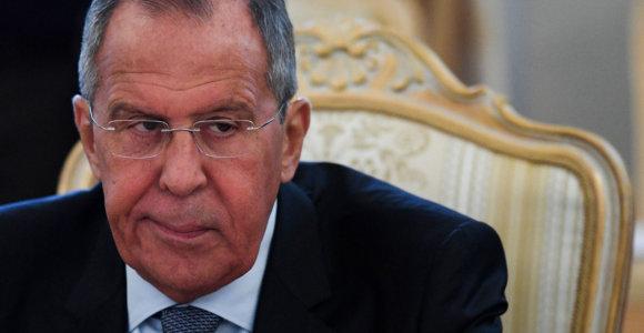 S.Lavrovas: Rusija neleis pratybose dalyvausiantiems NATO laivams perplaukti į Azovo jūrą