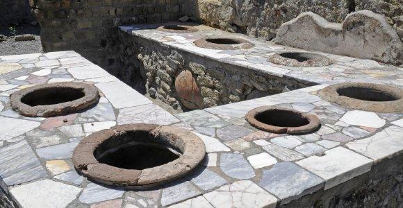 Greitas maistas prieš 2000 metų: pamatykite, kaip atrodo Pompėjoje atkasta senovės romėnų užkandinė