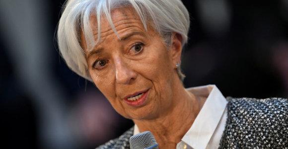ECB vadovė perspėjo dėl neveiklumo padarinių besikeičiančiam klimatui