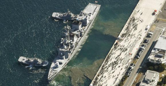 Neslūgstant įtampai tarp Irano ir JAV, Japonija siunčia karo laivą į Artimuosius Rytus