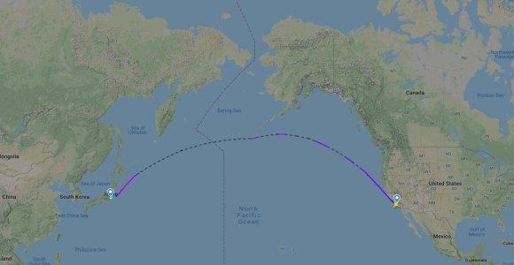 Kodėl pilotai vengia skristi virš Ramiojo vandenyno? Ne tik dėl saugumo