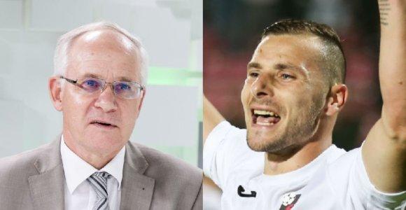 """""""Sūduvos"""" futbolo klubui siekiant istorinio pasiekimo ministras A.Monkevičius pasididžiavo regbiu"""
