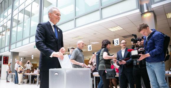 Europos Parlamento rinkimuose G.Nausėda balsavo už partiją