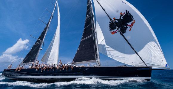 """""""Ambersail 2"""" kapitonas: """"Pirmą kartą gyvenime aplenkėme mūsų didįjį konkurentą jachtą """"Sojana"""""""