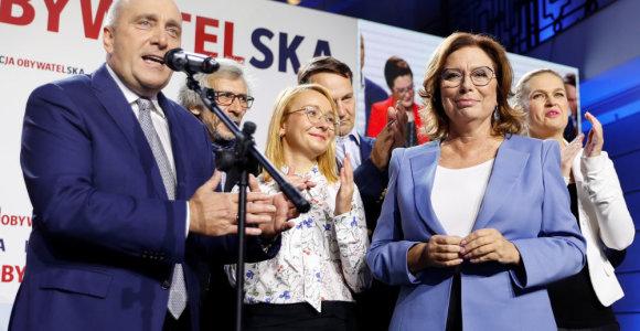 Lenkijos opozicijos kandidate į prezidentus išrinkta M.Kidawa-Blonska