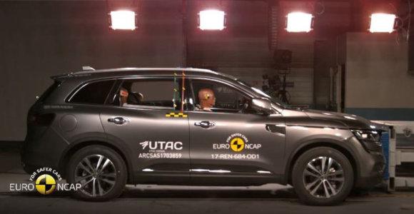 """Naujasis """"Renault Koleos"""" pelnė penkias """"Euro NCAP"""" žvaigždutes"""