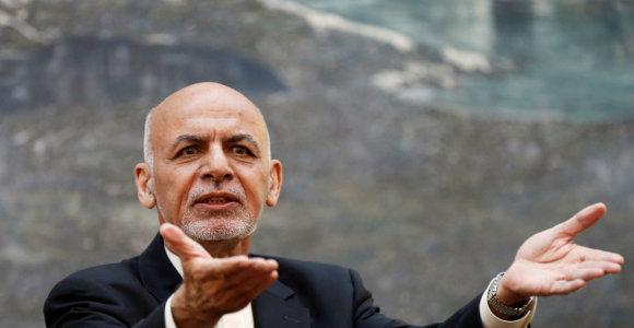 Afganistano prezidentas A.Ghani vėl pasiūlė Talibanui derėtis su Kabulu dėl taikos
