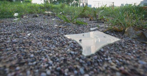 Vilnietis susižalojo pargriuvęs gatvėje ant stiklų