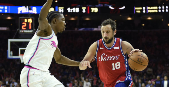 NBA: Filadelfijoje – pavydėtinas Marco Belinelli debiutas