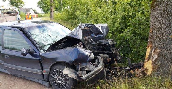 Telšių rajone VW automobiliui atsitrenkus į medį žuvo 11 metų vaikas