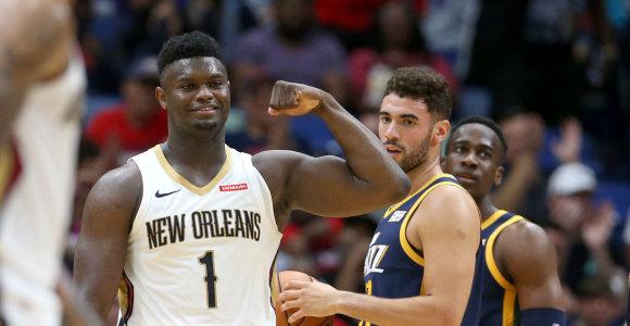 NBA: Zionas Williamsonas vėl buvo nuostabus, Ignas Brazdeikis taškų nepelnė