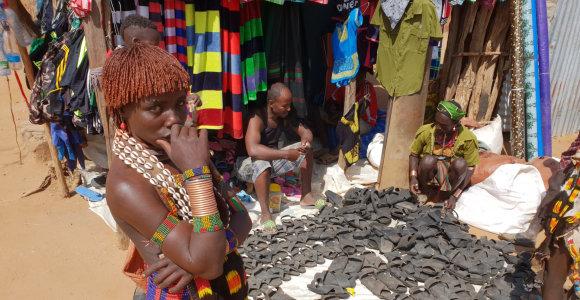 Kelionė Etiopijoje: citrinų laidymas į merginas ir pirmasis susidūrimas su gentimis